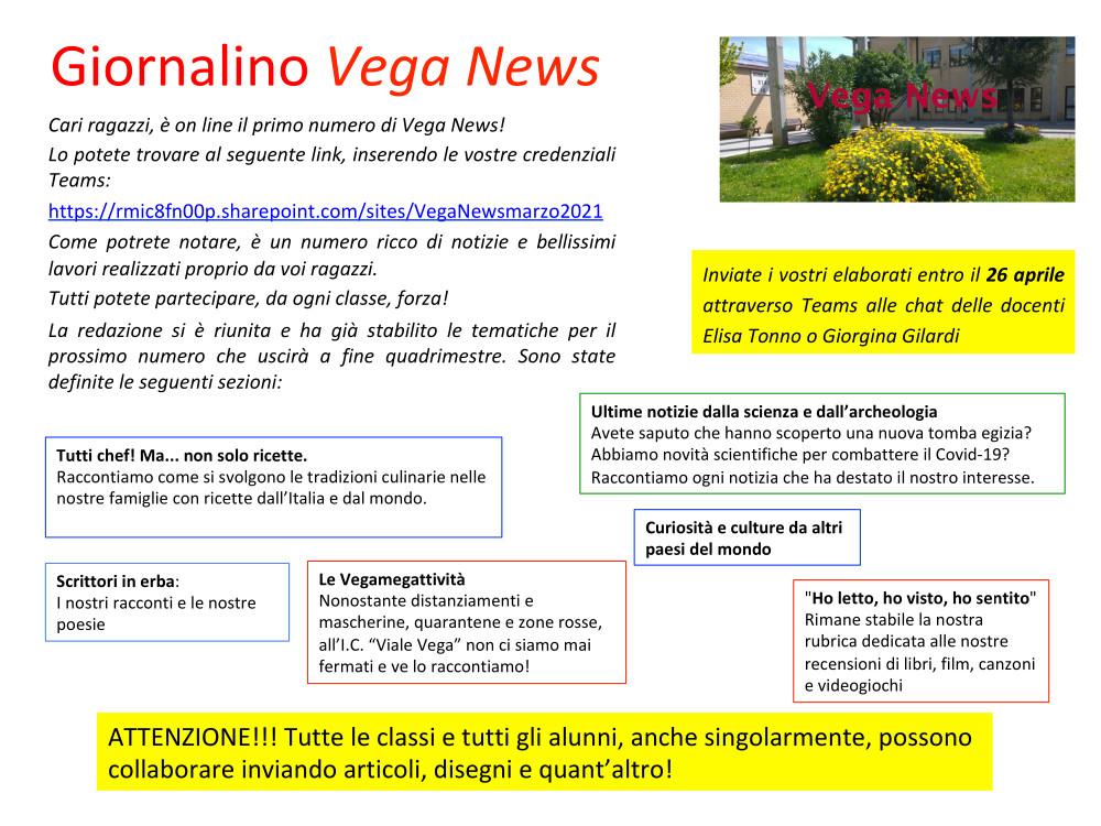 Vega News volantino numero 2